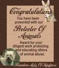 Animal Protector Award from RAOK
