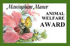 Mewingham Manor Animal Welfare Award