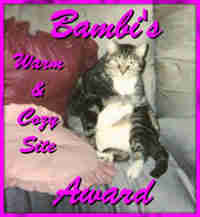 Bambi's Award for Cozy, Warm Sites