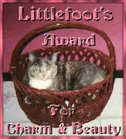Little Foot's Award for Charm & Beauty